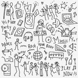 Χορός μουσικής doodles Στοκ εικόνα με δικαίωμα ελεύθερης χρήσης