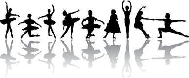χορός μπαλέτου διανυσματική απεικόνιση