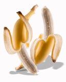 χορός μπανανών που ξεφλουδίζεται στοκ φωτογραφίες