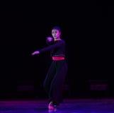 Χορός ροδαλός-πανεπιστημιουπόλεων νύχτας Στοκ Φωτογραφίες
