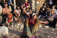Χορός σε Ibiza Στοκ φωτογραφία με δικαίωμα ελεύθερης χρήσης