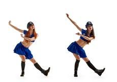 Χορός στην αστυνομία ομοιόμορφη Στοκ εικόνες με δικαίωμα ελεύθερης χρήσης