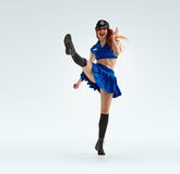 Χορός στην αστυνομία ομοιόμορφη Στοκ Φωτογραφίες