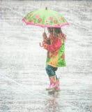 Χορός στη βροχή Στοκ Φωτογραφία