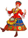 χορός τα εθνικά ρωσικά Στοκ Φωτογραφία