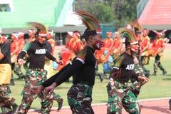Χορός της Παπούας στοκ φωτογραφία με δικαίωμα ελεύθερης χρήσης