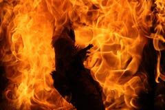 Χορός της πυρκαγιάς στρατόπεδων Στοκ Φωτογραφίες