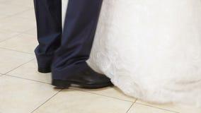Χορός του νεόνυμφου και της νύφης απόθεμα βίντεο