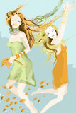 χορός φθινοπώρου Στοκ Εικόνα