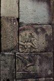 Χορός Apsara στον τοίχο του αρχαίου ναού στην περιοχή Angkor Στοκ εικόνες με δικαίωμα ελεύθερης χρήσης
