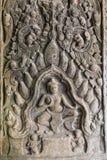 Χορός Apsara στον τοίχο του αρχαίου ναού στην περιοχή Angkor Στοκ Φωτογραφία