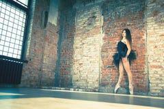 Χορός Ballerina εσωτερικός, τρύγος Υγιές μπαλέτο τρόπου ζωής Στοκ Φωτογραφίες