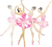 Χορός ballerina watercolor δύο Στοκ Εικόνες
