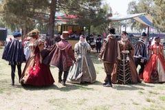 Χορός Faire αναγέννησης Στοκ Εικόνες