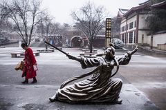Χορός Jian θειών Gongsun στοκ φωτογραφίες
