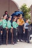 Χορός Sevillanas παιδιών Στοκ εικόνες με δικαίωμα ελεύθερης χρήσης