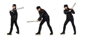 Χούλιγκαν γυναικών που απομονώνεται στο λευκό στοκ φωτογραφίες