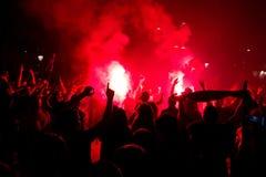 χούλιγκαν της Βαρκελώνη&sig Στοκ φωτογραφίες με δικαίωμα ελεύθερης χρήσης