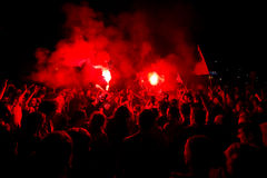 χούλιγκαν της Βαρκελώνη&sig Στοκ Φωτογραφία