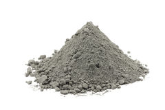 Χούφτα της γκρίζας σκόνης τσιμέντου στοκ εικόνες