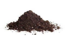 Χούφτα του χώματος που απομονώνεται στοκ φωτογραφίες με δικαίωμα ελεύθερης χρήσης