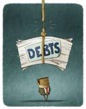 Χρέη φυγοδίκων διανυσματική απεικόνιση