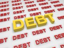 χρέος έννοιας Στοκ φωτογραφία με δικαίωμα ελεύθερης χρήσης