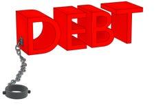 Χρέος και αλυσίδα Στοκ εικόνα με δικαίωμα ελεύθερης χρήσης