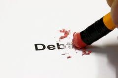 χρέος που σβήνεται στοκ φωτογραφία με δικαίωμα ελεύθερης χρήσης