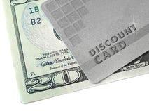 χρήματα έκπτωσης καρτών στοκ εικόνα με δικαίωμα ελεύθερης χρήσης