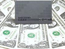 χρήματα έκπτωσης καρτών στοκ φωτογραφία