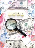 χρήματα έννοιας μετρητών αν&alph Στοκ Εικόνες