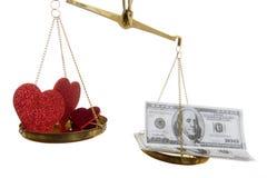 χρήματα αγάπης Στοκ Εικόνες