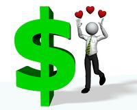 χρήματα αγάπης Απεικόνιση αποθεμάτων