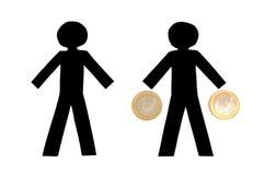 χρήματα αγγελιαφόρων Στοκ φωτογραφία με δικαίωμα ελεύθερης χρήσης