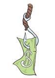 χρήματα αγκιστριών Στοκ φωτογραφία με δικαίωμα ελεύθερης χρήσης