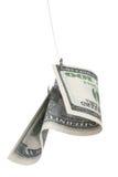 χρήματα αγκιστριών Στοκ Φωτογραφίες