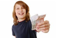 χρήματα αγοριών Στοκ φωτογραφία με δικαίωμα ελεύθερης χρήσης