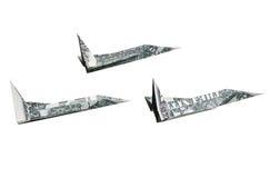 χρήματα αεροπλάνων Στοκ Εικόνες