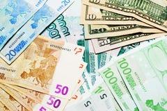 χρήματα ανασκόπησης Στοκ Φωτογραφίες