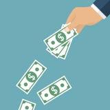 Χρήματα αποβλήτων Ρίξτε τα χρήματα Στοκ Φωτογραφία