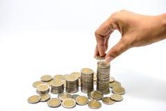 Χρήματα αποταμίευσης, αυξανόμενη επιχείρηση στοκ φωτογραφία με δικαίωμα ελεύθερης χρήσης