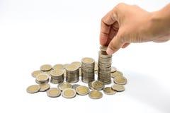 Χρήματα αποταμίευσης, αυξανόμενη επιχείρηση στοκ εικόνες