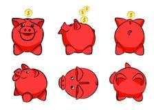 Χρήματα αποταμίευσης χοίρων κιβωτίων χρημάτων Στοκ Φωτογραφία