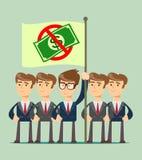 Χρήματα απόρριψης, έννοια ελεύθερη απεικόνιση δικαιώματος