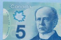 Χρήματα από τον Καναδά: Καναδικά δολάρια Στενός επάνω πυροβολισμός λεπτομέρειας