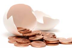 χρήματα αυγών Στοκ Φωτογραφίες