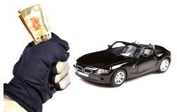χρήματα αυτοκινήτων Στοκ Εικόνα