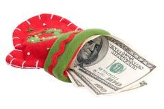 χρήματα γαντιών Στοκ φωτογραφία με δικαίωμα ελεύθερης χρήσης