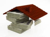 Χρήματα για το σπίτι Στοκ εικόνα με δικαίωμα ελεύθερης χρήσης